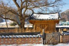 Het Koreaanse Huis van het Dorp Royalty-vrije Stock Afbeeldingen