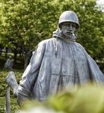 Het Koreaanse standbeeld van de Oorlogsmilitair Stock Afbeelding