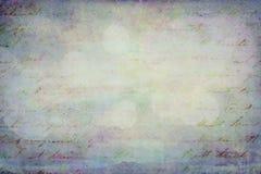 Het korrelige blauwe document van Grunge met het schrijven royalty-vrije stock afbeelding