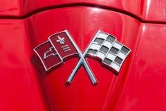 Het Korvet Sting Ray van Chevrolet van de embleemsportwagen (C2) Stock Afbeeldingen