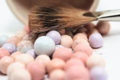 Het kosmetische poeder van de schoonheid Stock Foto