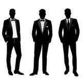 Het kostuum en de smoking van huwelijksmensen ` s vector illustratie