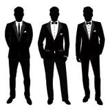Het kostuum en de smoking van huwelijksmensen ` s inzameling De Bruidegom vector illustratie