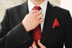 Het kostuum van de bruidegom royalty-vrije stock afbeelding