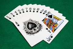 Het kostuum van spades Stock Foto's