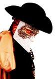 Het kostuum van Venetië Carnaval van een oude edele Venetiaan met masker Stock Foto's