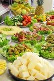 Het koude buffet van de vakantie. Stock Afbeeldingen