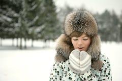 Het is koude buitenkant Stock Foto