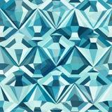 Het koude naadloze patroon van de kleurendiamant Stock Afbeelding