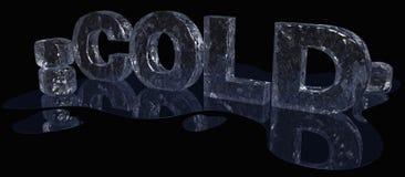 Het koude Type van Ijs royalty-vrije illustratie
