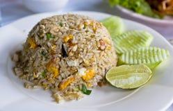 Zeevruchten gebraden rijst Stock Afbeeldingen