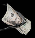 Het kraken van het geld stock afbeelding