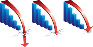 Het kraken van het krediet stock illustratie