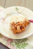 Het krakencake van de amandel met vork Royalty-vrije Stock Fotografie