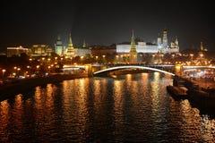 Het Kremlin bij Nacht stock afbeelding