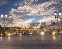 Het Kremlin bij nacht, Moskou, Rusland--de populairste mening van Moskou royalty-vrije stock foto's