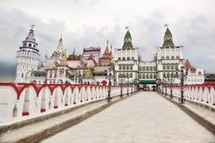 Het Kremlin in de algemene mening van Izmailovo Moskou Royalty-vrije Stock Foto