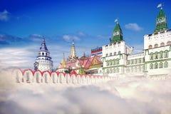Het Kremlin, de collage Stock Fotografie
