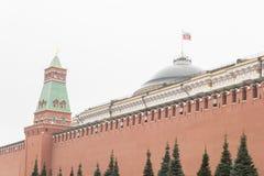 Het Kremlin - een vesting in het centrum van Moskou, belangrijkste sociaalpolitieke, historische en artistieke complex van de sta royalty-vrije stock foto's