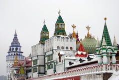 Het Kremlin in Izmailovo, Moskou, Rusland royalty-vrije stock foto