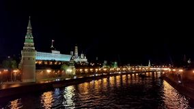 Het Kremlin in Moskou stock footage
