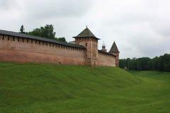 Het Kremlin, Novgorod Groot, Rusland stock foto's