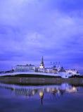 Het Kremlin op de kust van Rivier Kazanka Royalty-vrije Stock Foto