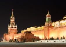 Het Kremlin in Rood Vierkant van Moskou Stock Afbeelding