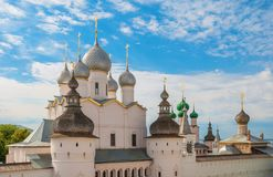 Het Kremlin in Rostov Veliky stock afbeelding