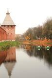 Het Kremlin in Smolensk Stock Foto