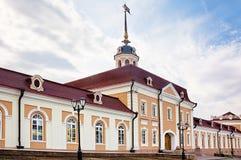 Het Kremlin van Kazan, Rusland. De binnenplaats van het kanon. Royalty-vrije Stock Foto's