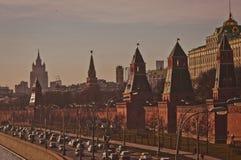 Het Kremlin van Moskou op de zonsondergang Royalty-vrije Stock Foto's