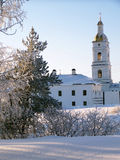Het Kremlin van Tobolsk. De kloosterbouw en een klokketoren Royalty-vrije Stock Foto