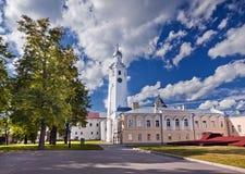 Het Kremlin in Veliky Novgorod stock foto's