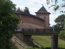 Het Kremlin in Veliky Novgorod, Rusland Royalty-vrije Stock Fotografie
