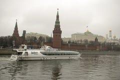 Het Kremlin is versterkte complex in het centrum van Moskou Stock Afbeeldingen