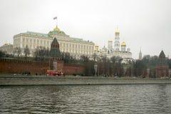 Het Kremlin is versterkte complex in het centrum van Moskou Stock Fotografie