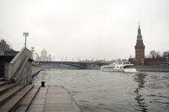 Het Kremlin is versterkte complex in het centrum van Moskou Royalty-vrije Stock Afbeeldingen