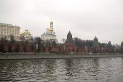 Het Kremlin is versterkte complex in het centrum van Moskou Royalty-vrije Stock Afbeelding