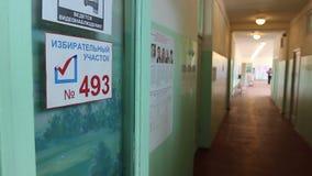 Het krijgen in de verkiezing in Rusland stock video
