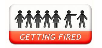 Het krijgen van in brand gestoken verliezende baan Stock Foto's