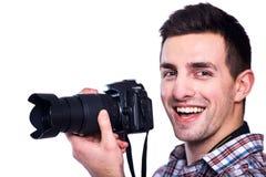 Het krijgen van de perfecte schoten Stock Fotografie