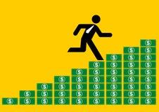 Het krijgen van de zakenman betaalt stijging Royalty-vrije Stock Afbeeldingen