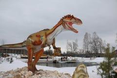 Het krijgen van het begonnen Park van Yurkin van het dinosauruspark Stock Afbeeldingen