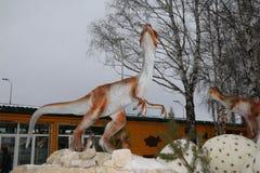 Het krijgen van het begonnen Park van Yurkin van het dinosauruspark Royalty-vrije Stock Foto's