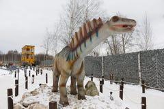 Het krijgen van het begonnen Park van Yurkin van het dinosauruspark Royalty-vrije Stock Afbeeldingen