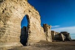 Het Krijtpiramides van de monumentenrots Stock Foto's