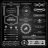 Het krijttextuur van ontwerpelementen Stock Afbeeldingen