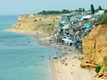 Het Krimstrand stock fotografie