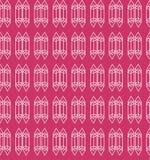 Het kristal schetste aantrekkelijk naadloos patroon in heldere kleurenoptie royalty-vrije illustratie